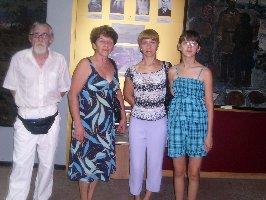 Слева направо А.И.Бездетный, К.П.Любченко, Э.И.Сергиенко и О.В.Сергиенко. Музей-заповедник Большой Дуб, 11.08.2010г.